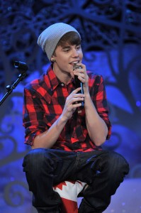 Justin Bieber at Home for the Holidays show in Toronto, photo courtesy MuchMusic, George Pimentel for WireImage