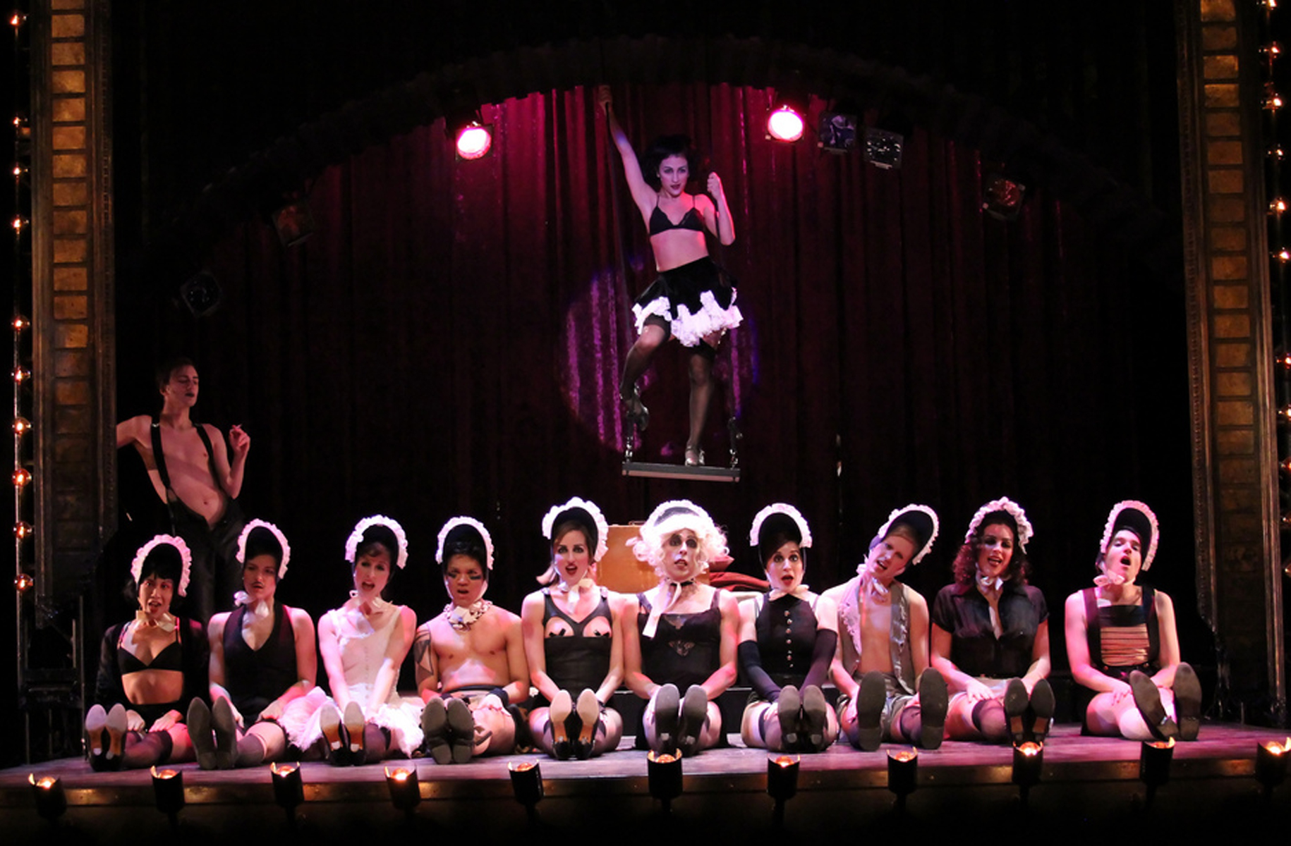 The company performing Don't Tell Mama, photo Daniel DiMarco