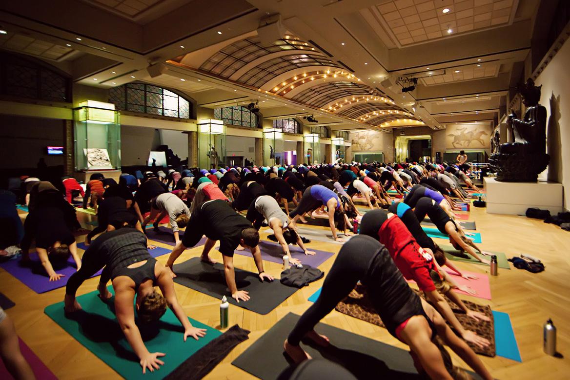Yoga at the ROM, photo Jennifer Ballard
