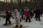 Snowshoeing at Humber Arboretum March Break Camp