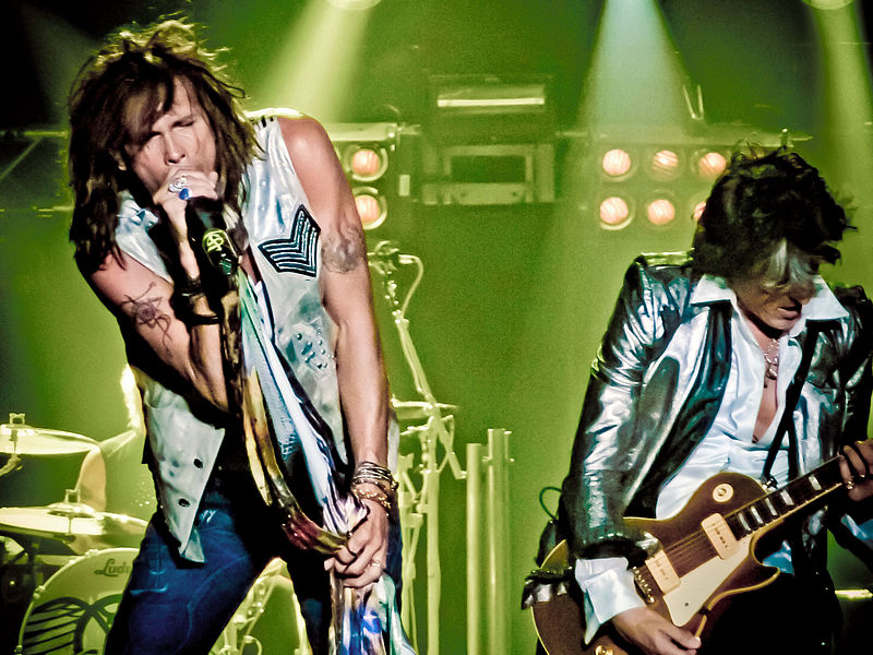 Steven Tyler and Joe Perry of Aerosmith, photo by Julio Aprea