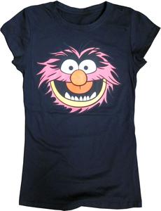 Ladies Muppets Animal short sleeve crew neck licensed tee at Walmart