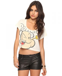 Popeye Crop Tee at Forever 21