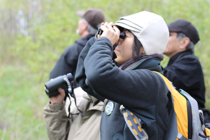 Bird Watcher at Tommy Thompson Park Spring Festival