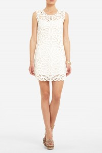 BCBG Beti Lace Crochet Dress, $248