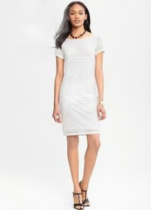 Banana Republic Knit Lace Dress, $124