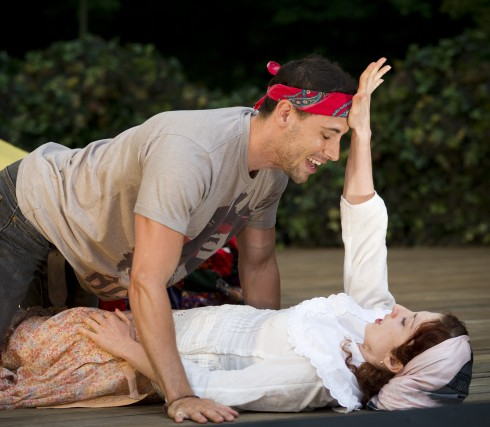 Eric Morin and Sophia Kolinas in A Midsummer Night's Dream, photo Chris Gallow