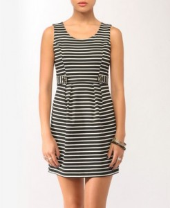 Forever 21 Striped Button Tab Sheath Dress, $22.80