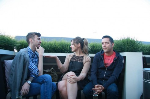 George Stroumboulopoulos and friends chill on Thompson Toronto Rooftop, photo Clarissa Magalhaes