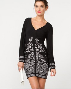 Le Chateau Border Print Knit Tunic, $110