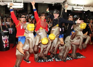 Marianas Trench on the MMVA 2012 Red Carpet, photo MuchMusic