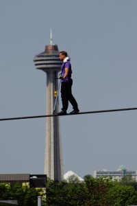 Nik Wallenda practicing in Niagara Falls for June crossing, photo bobc1369