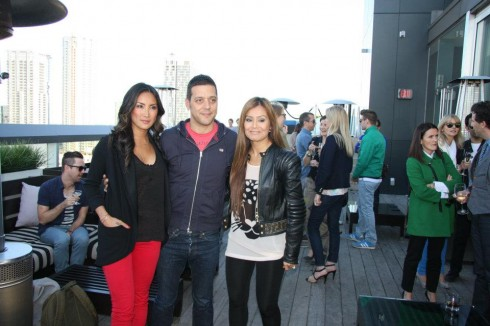Tanya Kim, George Stroumboulopoulos and Melissa Grelo, photo Clarissa Magalhaes