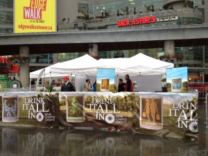 Wine Country Ontario Wine Tasting at Yonge Dundas Square