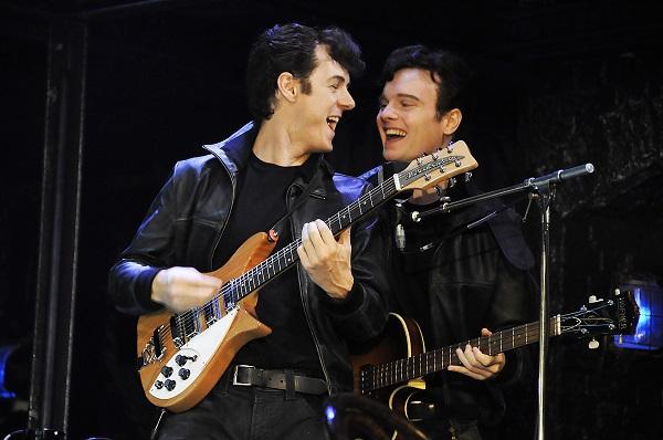Andrew Knott and Daniel Healy in Backbeat, photo Nobby Clark