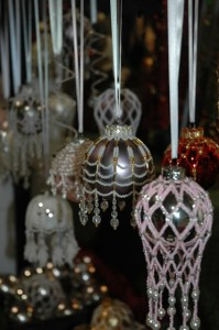 Beaded Ornaments at Markham Home for the Holidays