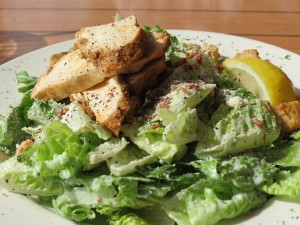 Caesar salad with Cajun chicken at Snug Harbour
