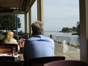View from Snug Harbour patio in Port Credit