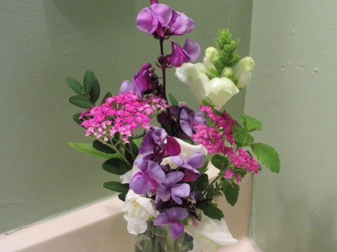 Fresh flowers in guest rooms at Hillsdale House