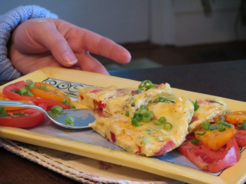Frittata served at Hillsdale House, Bloomfield
