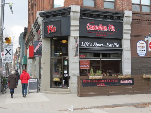 Canadian Pie Company at Queen and Boulton, Toronto
