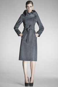 Long Wrap Coat with Hooded Collar by Sentaler, $1,190