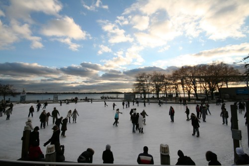 Skating at Harbourfront in Toronto, photo Jennifer Hart