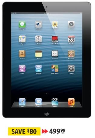 Apple iPad 3rd gen 16 GB $499.99 at Future Shop