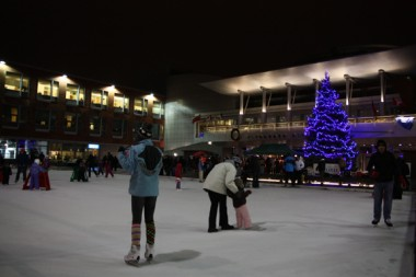 Skating on NYE at Kitchener City Hall