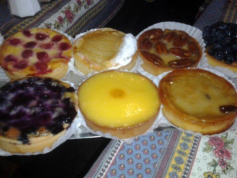Clafouti and custard at Bonjour Brioche