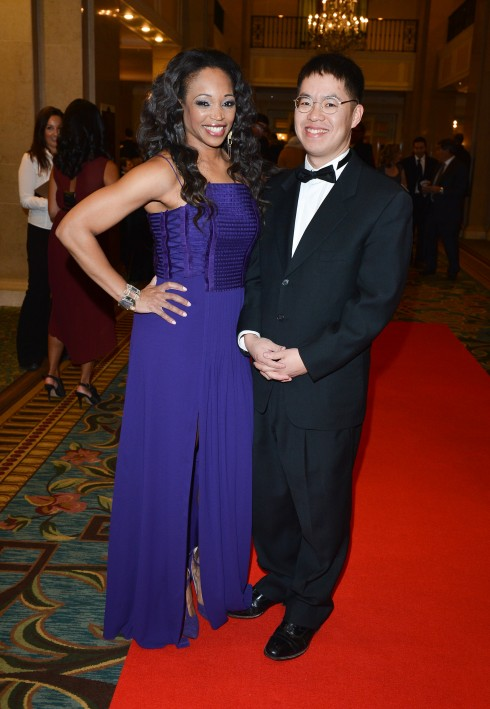 Cityline's Tracy Moore and Author Vincent Lam, photo George Pimentel