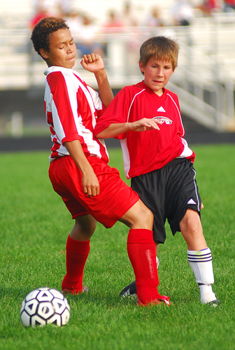 Kids playing soccer, photo Beth Rankin