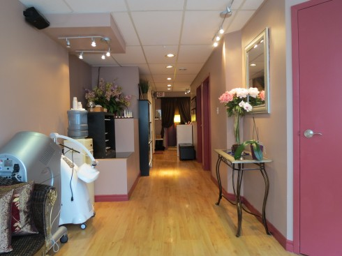 Interior of IN Beauty Med-Spa at 26 Bellair Street in Yorkville