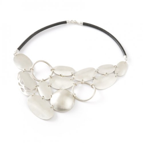 Sterling silver and leather necklace from Jenny Greco