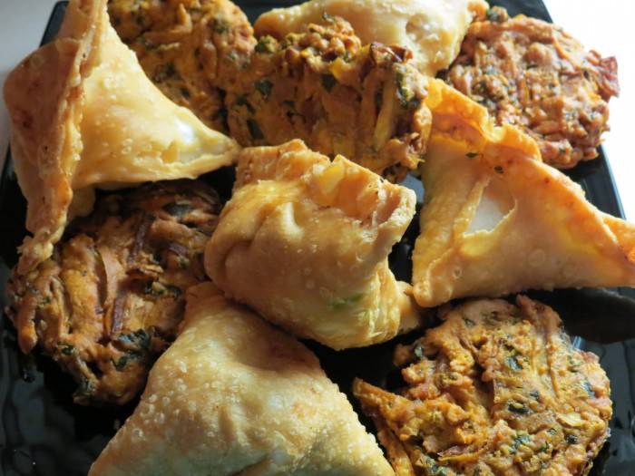 Samosas and Pakoras from Broadview Bakery in Riverdale