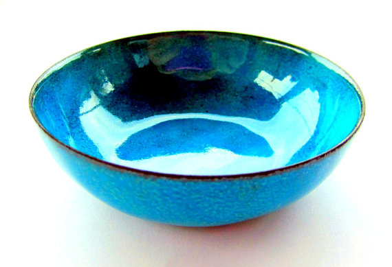 Azure Blue bowl from Torched Studio, $99.22