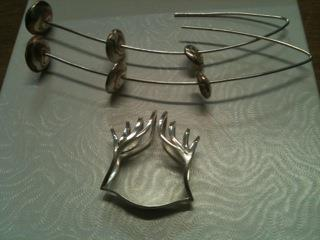 Earrings and ring from Amber Thomas-Penchoff Jewellery
