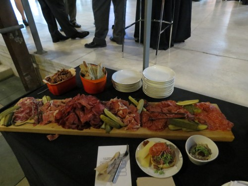 Chef Brad Long's antipasto table at Beautiful Heat event