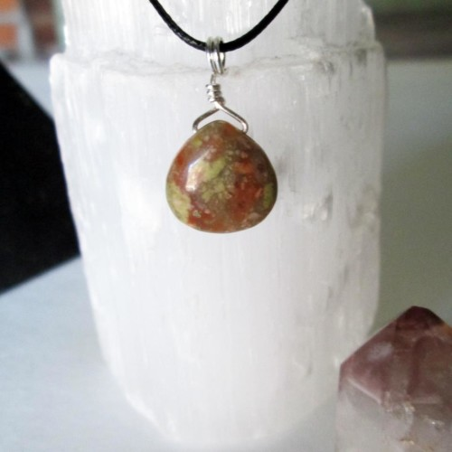 Unakite pendant necklace from Sorrel & Rue Gemstone Jewelry