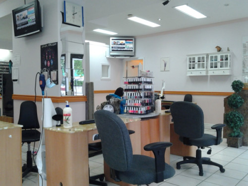 Interior of Star Nails at 344 Pape Avenue
