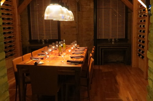 Private room at Cibo Wine Bar