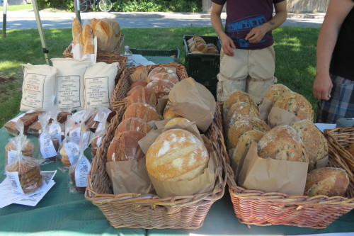 Organic bread from St. John's Bakery at Withrow Farmers' Market