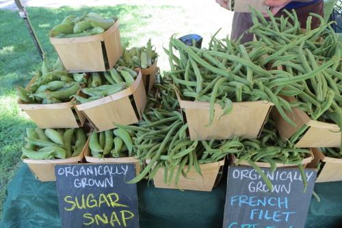 Sugar Snap Peas from Fiddlehead Farm at Withrow Farmers' Market