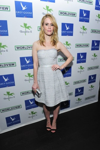 Actress Sarah Paulson attends Bungalow 8 And Worldview Party, photo Jerod Harris