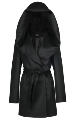 Wrap Coat with Hooded Collar from Sentaler, $940