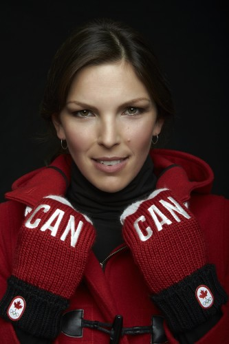 Caroline Calve in Hudson's Bay Sochi 2014 Canadian Olympic Collection