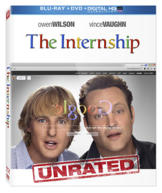 The Internship with Vince Vaughn and Owen Wilson on Blu-ray