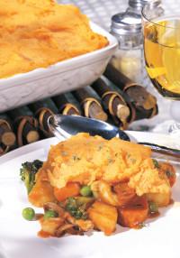 Vegetable Pot Pie from The Healing Herbs Cookbook by Pat Crocker