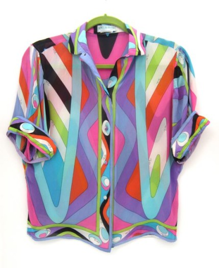 Vintage silks Pucci shirt from Samantha Howard Vintage