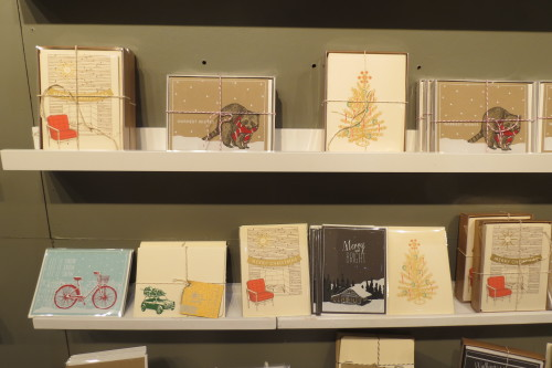 Holiday cards from Flakes Paperie